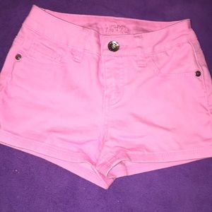 Pink Shorts Bubblegum Pink Bright Colored Justice